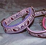 Hunde Halsband Sheltie rosa bordeaux