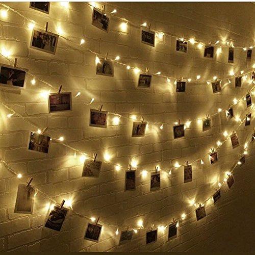 LED Lichterketten Innen mit EU Stecker, 12m, 100er, Warmweiß, Weihnachtsbaum Deko, für Innen und Außen, Erweiterbar, mit 31V DC Niederspannungs-Transformator 8 - Tage Bis 8 Halloween