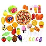 Winni43Julian Taglio Frutta e Finti Alimenti Set di giocattoli in plastica alimentare da 40 pezzi Frutta e Verdura Giocattolo da Tagliare Cibo Giocattolo per Bambini