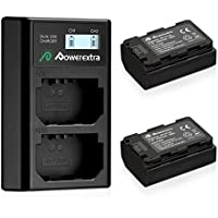 Powerextra 2 Pack NP-FZ100 Replacement Battery and Dual LCD Battery Charger Compatible with Sony Alpha 9,Sony A9,Sony Alpha 9R,Sony A9R,Sony Alpha 9S,Sony A9S,Sony A7RIII,Sony A7R3,Sony a7 III Digital Camera