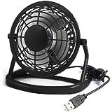 TRIXES USB mini ventilateur de bureau, Refroidissement Portable & Quiet pour ordinateur PC portable