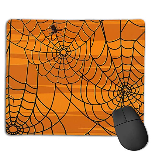 chteck Rutschfeste Gummi Gaming Mousepad (Scary Halloween Spiders Graphics, 8,66 x 7,08 Zoll) ()