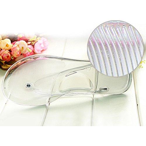 Eastlion Frauen und Mädchen Transparente Sommer Hausschuhe Flip Flops Strings Weiß