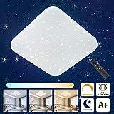 Oeegoo LED Deckenleuchte Dimmbar Sternenlicht, 24W LED Deckenlampe mit Fernbedienung, 1680LM LED Starlight mit Sternendekor für Kinderzimmer Wohnzimmer Schlafzimmer Esszimmer.
