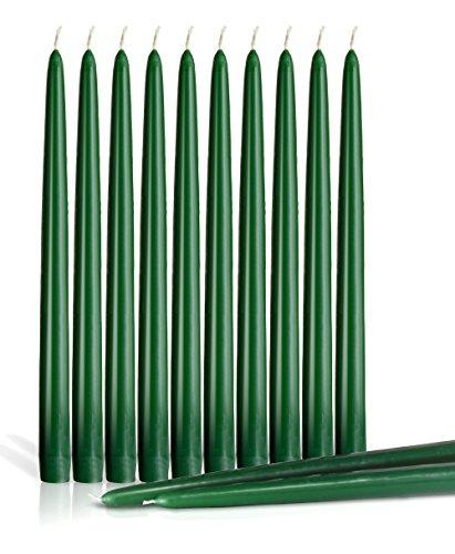 zen 20,3cm Zoll hoch Hochzeit Abendessen Kerzen Set von 12, Wachs, grün, 25 cm (10 Zoll) (Bulk Bar Gläser)