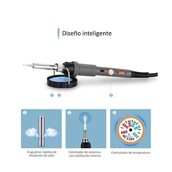 Kit de Soldadura 21 en 1, VicTsing 60W Soldador Electrónica de Estaño