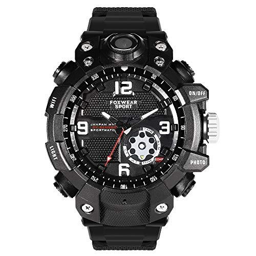 FUX FUX Smartwatch Fitness wasserdichte Herren Uhr Smartwatch Intelligente Uhr 2.6K Mobile APP Wireless HD Outdoor Sport Kamera Uhr IP67 wasserdichte Kann mit einem Mobiltelefon verbunden Werden