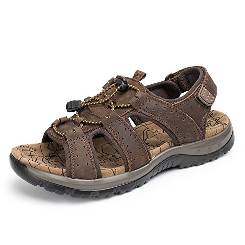 Xing Lin Sandales Pour Hommes Piscine Extérieure DHommes Sandales Sandales Chaussures De Wading British Léger Pointure Dark brown