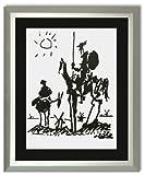 Kunstdruck Bild Pablo Picasso Don Quixote Galeriebild mit Rahmen PRISHIT!
