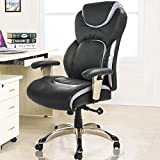 BTM Office Chair Gaming Computer PC Chairs Desk Executive Swivel Luxury Reclining Boss Chair