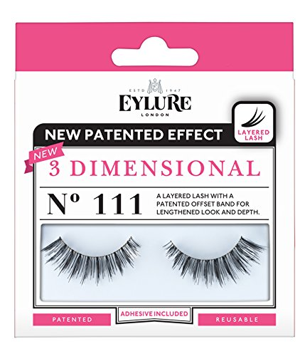 Eylure Strip Lashes, 3 Dimensional Number 111 by Eylure (Strip Wimpern)