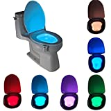 #6: MK Toilet Seat Bowl Night Light with LED Sensor Motion Activated Battery Glow for Bathroom (Multicolour)