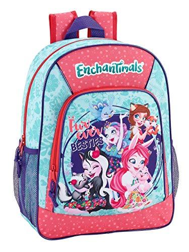 Enchantimals Oficial MochilaEscolar Niños 330x140x420mm