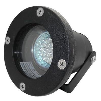 Boden Einbaustrahler Sophie / 230Volt / IP68 / Farbe: Schwarz / SMD LED Weiß / SMD LED 2.5Watt / Rostfrei / Schwenkbar / GU10 Sockel / Energieeffizienzklasse A+ von Unbekannt bei Lampenhans.de
