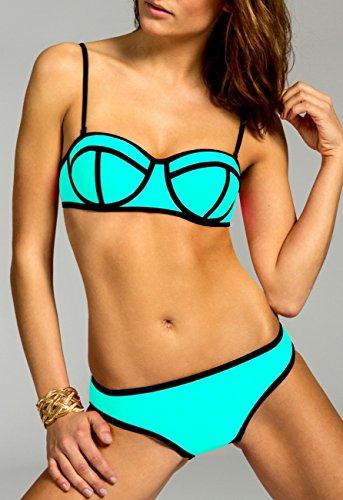 CASPAR BIK003 Damen Bandage Bikini Set Mint