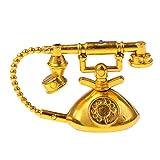 Homyl Miniatur Festnetztelefon Tischtelefon für 1:6 Puppenhaus Wohnzimmer Dekoration