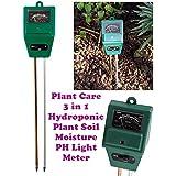 Alfa Mart  Soil Tester,3-in-1 Soil Moisture,ph Meter Test Kit with Light Gauge Function,Soil Analyzer Detector for Testing PH Acidity,Moisture,Sunlight Intensity,Indoor Outdoor Garden Farm Lawn Plant Flower