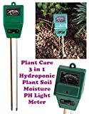 Alfa Mart ™ Plant Care New 3 In 1 Hydroponic Plants Soil Moisture Ph Light Meter, Tester