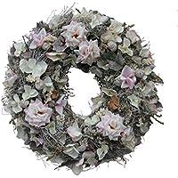 Adventskranz Türkranz Wandkranz Kranz Shabby Chic Rosen Seidenblumen #45012