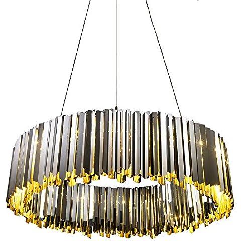 CLG-FLY moderno lampadario fashion club project room soggiorno sala da pranzo lampadario V5222-D100 lampadario,luce gialla,24*G9*20W - Giallo Tensione In Oro Anello