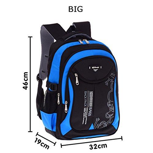 Kinder Schultaschen Für Jugendliche Jungen Mädchen Große Kapazität Schulrucksack Wasserdichte Satchel Kinder Buch Tasche Black b