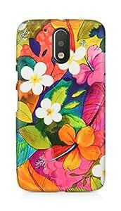 Amez designer printed 3d premium high quality back case cover for Motorola Moto G4 Plus (Painting Flowers)