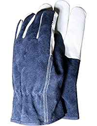 2XTown & Country TGL418L Deluxe Premium Leather & Suede Mens Gloves