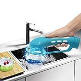 Elektrische Reinigungsbürste Multifunktionale Wasserdicht Reinigungsmaschine Zugängliche Ritzen und Fugen Reinigt gründlich 4 Austauschbare Bürste,Batteryversion