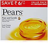 #3: Pears Pure and Gentle Bathing Bar, 125g (Pack of 3)