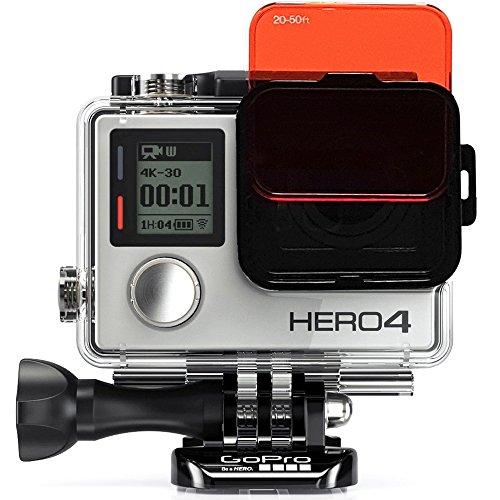 SanDMARC Aqua Filter für GoPro Hero 4 und 3+ Kameras - Tauch-, Tauch- und Schnorchelzubehör - Rot, Magenta und Gelb Filterset - 5er-Pack - Standardgehäuse (Objektiv Gopro 4 Dive Hero)