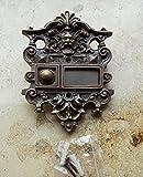 Graf von Gerlitzen Antik Messing Tür Klingel 1 Gründerzeit Türklingel Klingelschild K27A