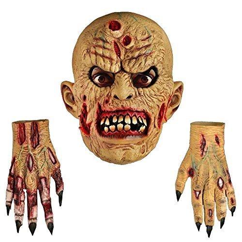 Für Fäulnis Kostüm Erwachsene - Zombie Erwachsene Latex Maske & Handschuhe Halloween Kostüm Accessoires