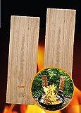 2 Flammlachs-Bretter aus Buchenholz - 2 Ersatz-Holzbretter für Flammlachshalterungen 45 x 15 cm (2355)