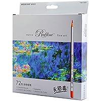 Zhengdu qualità professionale Marco 72 matite colorate, colori, matite da disegno colorati per pittura a olio, con disegno da colorare Base/libri da colorare, motivo: giardino segreto