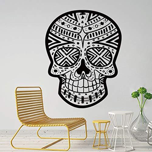 Jixiaosheng Halloween Skelett Hintergrund Dekoriert Wohnzimmer SchlafzimmerWandaufkleber 57 * 75 Cm (Halloween Skelette Tierische Für)