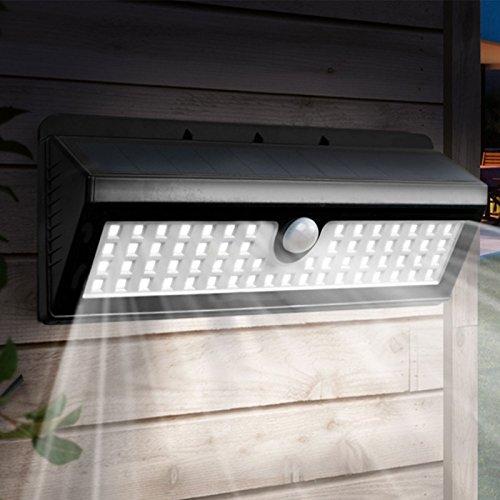 IDMarket - Applique 62 led solaire murale avec sensor