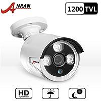 ANRAN 1200TVL 960H sicurezza sorveglianza CCTV telecamera con IR Cut 3.6mm Lens alta risoluzione 90ft (Tvl Telecamera Bullet)