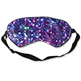 Glitter Sleeping Mask Printed Geometric Adjustable Sleep Silkworm Eye Mask