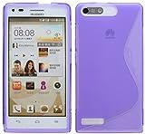 Huawei Ascend G6 // Silikon Hülle S-Line Tasche Case Zubehör Schale in Lila @ Energmix