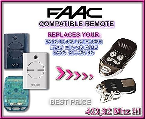 FAAC T4 433 LC / FAAC TE4433H, FAAC XT4 433 RCBE, FAAC XT4 433 RC compatible Télécommande, 433,92Mhz rolling remplacement emetteur de haute qualité pour LE MEILLEUR PRIX!!!