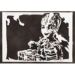 Baby Groot Poster Guardians of the Galaxy Plakat Handmade Graffiti Street Art – Artwork