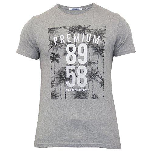 Herren Kurzärmelig Blumenmuster Druck T-shirt By Threadbare Grau - MMV013PKB