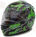 Motorradhelm Motorrad Helm Grün Schwarz Gr. M