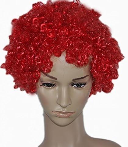 Carlo Capellini Curly Afro Fancy Dress Wigs Funky Disco Clown