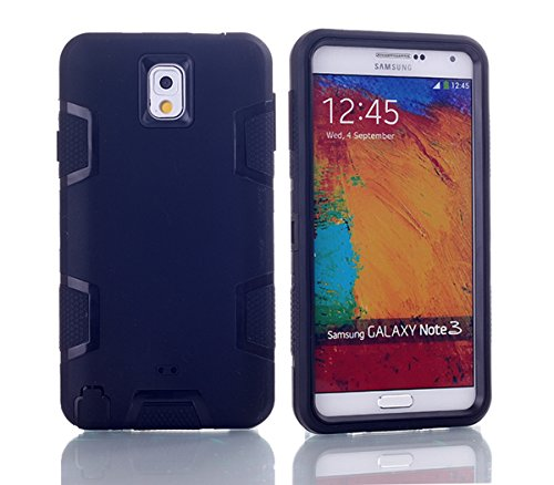 Samsung Galaxy Note 3 N9000 Hülle, Forhouse Ultra Slim [TPU + PC][Dual Layer][Roboter-Muster] Schutzhülle [Anti-Rutsch-] Shock-Absorption-Abdeckung für Samsung Galaxy Note 3 N9000 (schwarz) (Galaxy Note 3 Fall Roboter)