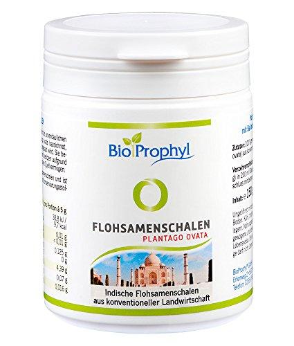 BioProphyl® Flohsamenschalen plantago ovata – 150g Flohsamenschalen – 100% rein gemahlen – hoher Ballaststoff Gehalt
