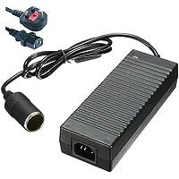 Auto Power Inverter–BW AC 100–240V a DC 12V 10A accendisigari tensione convertitore adattatore di alimentazione universale, 12V dc 10A Alimentatore/Caricabatterie da auto