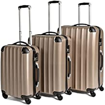 TecTake Set 3 Maletas ABS Juego de Viaje con Ruedas