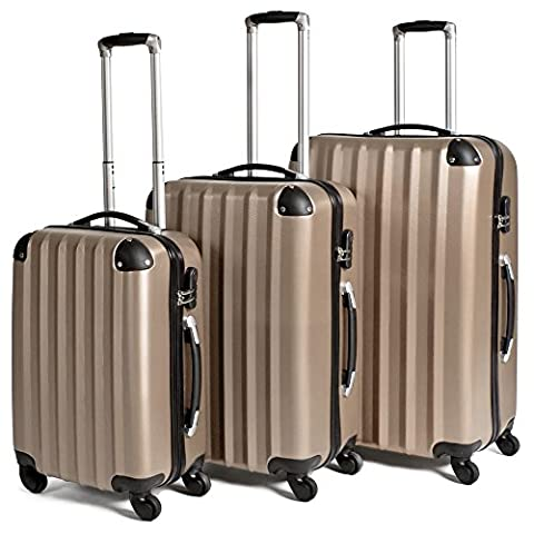 Set Trolley - TecTake Lot de 3 Valises Trolley Valise