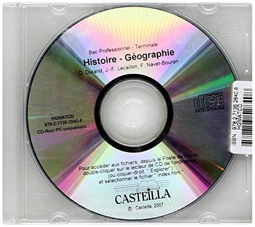 CD ROM Histoire Géo Bac Pro Terminale